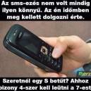 SMS írás