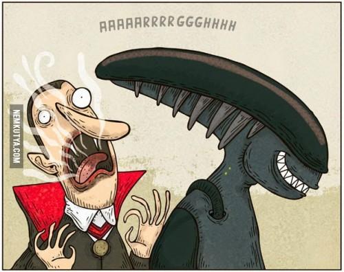 Alien vs Drakula