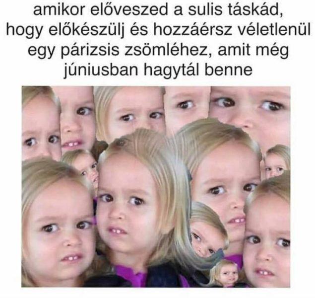 Iskolakezdés szépségei:)